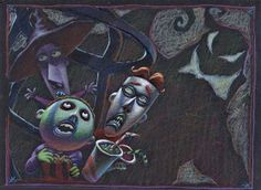 Nightmare Before Christmas Framed Art | Lock-Shock-and-Barrel-with-Oogie-Original-Concept-Art-from-Tim-Burtons ...