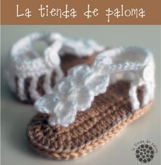Crochet baby sandals  Baby booties  Baby shoes  Baby by palom          Baby girl gladiators :)