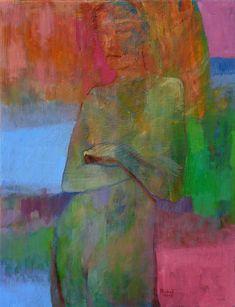 Miro Pribiš - Dúhová krása, olejomaľba, plátno na preglejke 60 x 46 cm, bez rámu, 2017