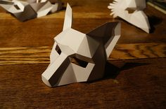 These plans and instructions enable you to make your own 3D Fox mask
