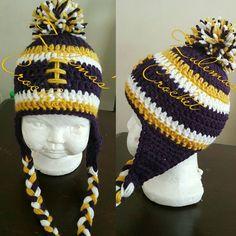 Crochet Baltimore Ravens Beanie Baltimore Ravens by ZulemasCrochet
