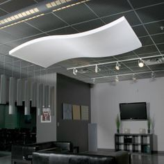 Whisperwave® Acoustical Ceiling Cloud – White