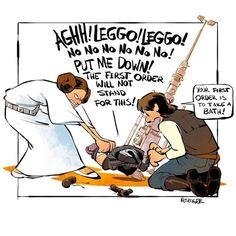 The Homelife Antics of Han Solo and Princess Leia