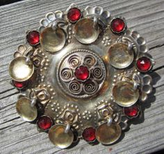 Large silver brooch, ca. cm in diameter, 830 S, made ​​by Magnus Aase who was a goldsmith in Bergen in Norway Sweden Finland, Denmark, Hair Jewelry, Silver Jewelry, Norwegian Style, Rings N Things, Fab Shoes, Elvish, Silver Brooch