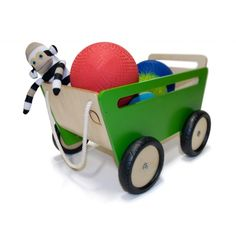 I love this wagon, how perfect for a toddler/preschooler. The size and color make it a sure fire win!