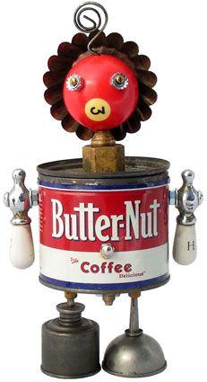 "Name: Bebe  D.O.B.: 11/25/08  Height: 11""  Principal Components: Coffee tin, pool ball, tartlet tin, faucet handles, oil cans, car door lock spring"
