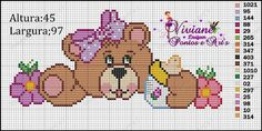 Baby Cross Stitch Patterns, Cross Stitch Baby, Cross Stitch Charts, Beading Patterns, Crochet Baby, Teddy Bear, Embroidery, Canvas, Lily
