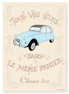Poster I made for the citroen. More on my blog http://halfchai.tumblr.com