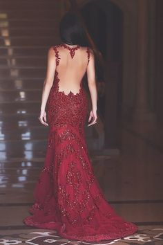 Glamorous Red Mermaid Sequins Prom Dress 2016 Appliques Sweep Train - Products - 27DRESS.COM