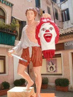 Death to Ronald McDonald.
