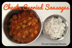 The road to loving my Thermomix: Cheats Curried Sausages