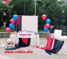 www.rodon.site Candy bar βάπτισης με θέμα το ταξίδι Birthday Cake, Candy, Desserts, Food, Tailgate Desserts, Deserts, Birthday Cakes, Essen, Postres