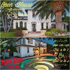 Open House! Friday & Saturday, Sept. 18th & 19th.  7045 Heron Cir. Carlsbad, CA 92011
