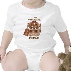 I Love Chocolate Bunnies Shirt.  Look for more items in my store.www.zazzle.com/designsbydonnasiggy?rf=238713599140281212 -Please share this web address with your family and friends.  Thank you for shopping at my store. #easter #bunnies #zazzle #pinoftheday
