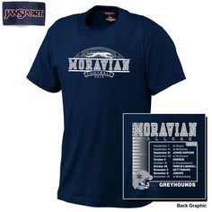 Football T-shirts never looked this good.  Specific to the 2013 season, perfect for Blue Out games.  Available only at the Moravian College Bookstore