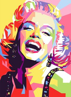 Marylin Monroe Pop Art Poster by Ahmad Nusyirwan. All posters are professionally printed, packaged, and shipped within 3 - 4 business days. Choose from multiple sizes and hundreds of frame and mat options. Pop Art Marilyn Monroe, Marilyn Monroe Painting, Images Pop Art, Portraits Pop Art, Art Minimaliste, Tableau Pop Art, Pop Art Posters, Kunst Poster, Canvas Wall Art