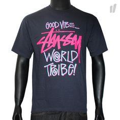 Stüssy S/S T-Shirt Good Vibe - http://www.overkillshop.com/de/product_info/info/9029/