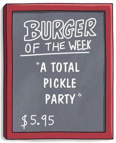 Bob's Burgers / Specials Board