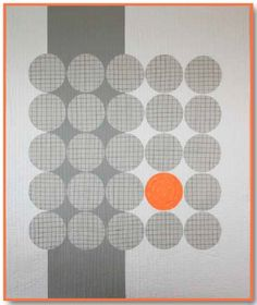 """I wouldn't use the grey and orange for myself but I like it.  I would use different colors.  Nice simple modern quilt design!  This pin has a link to e-book with 8 quilt patterns """"Geared for Guys"""""""