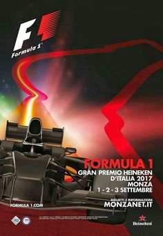 2017 Italian Grand Prix at Monza poster and cover art. #F1 #Formula1 #ItalianGP #Monza #Affiche