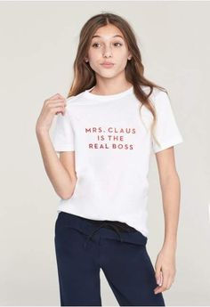 Milly Minis Mrs Claus Is The Real Boss Tee #fashion #kids #2018 #outfit