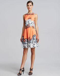 Blumarine - Printed Full-Skirt Dress