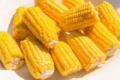 Lekker voor bij de Barbecue; gegrilde maïskolf met honing