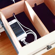 Smart Details: hidden chargers. HGTV HOME Furniture