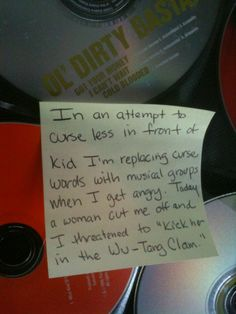 "From http://messagewithabottle.tumblr.com I laughed unstoppably at ""Wu-tang clam"""