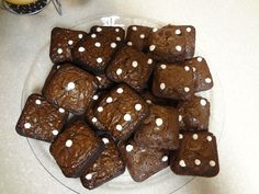 Bunco Dice Brownies Brownies w/white frosting (or melted almond bark)