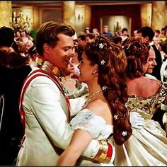 Romy Schneider and Karlheinz Böhm dancing. Sisi 1956 #sissi #kaiserin #elisabeth #kaiserinelisabeth #östrerreich #romyschneider #withedress #acctress #queen #empress #film #braid #braidhair #longhair #empress #actress  #film #filmsissi #sissi #lisi #sisi #elisabeth #beautydress #dance #karlheinzböhm #actor #franzjoseph #kaiser #dance #dancing #smile #filming #liebe #badischl