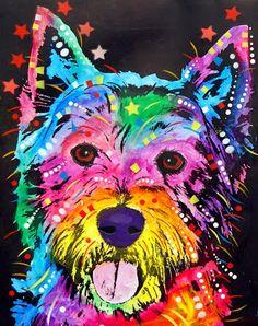pinturas de diferentes razas de perros retratos pop de perros