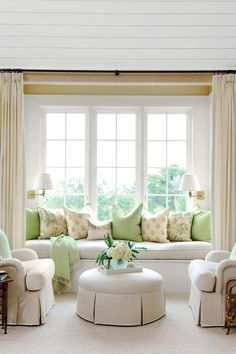 Coastal Bedroom Built-In Seating - Stylish Bedroom Seating - Southernliving. Instead of letting this window nook go to…