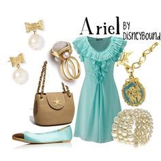 """Ariel"" by lalakay on Polyvore (can anyone tell that I'm obsessed with DisneyBound?) :D"
