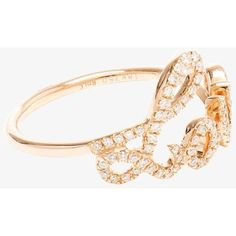 Rosa De La Cruz Rosa De La Cruz Love Diamond Ring ($1,903) ❤ liked on Polyvore featuring jewelry, rings, pave diamond jewelry, rosa de la cruz jewelry, diamond rings, diamond jewellery and diamond jewelry