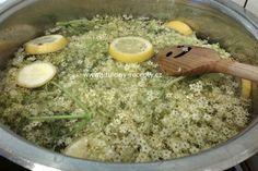 Vařený bezový sirup od Péti   jitulciny-recepty.cz Hummus, Grains, Rice, Ethnic Recipes, Food, Essen, Meals, Seeds, Yemek