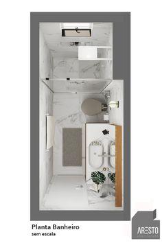 Small Bathroom Plans, Small Bathroom Layout, Bathroom Floor Plans, Simple Bathroom, Small Shower Room, Tiny Bathrooms, Apartment Bathroom Design, Bathroom Design Luxury, Small Toilet Design