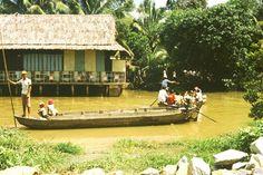 1989, Bootsfahrt am Mekong Delta Südvietnam;           1989, boat ride on the Mekong Delta Vietnam;