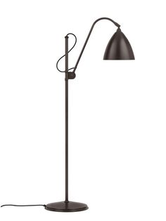 GUBI // Bestlite M floor lamp in all black brass Tree Floor Lamp, Cool Floor Lamps, Grey Lamp Shades, Photo Lamp, Ikea Lamp, Floor Standing Lamps, Torchiere Floor Lamp, Lamp Socket, Lamp Design