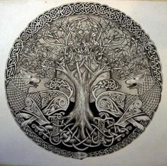 tree  celtic  dogs