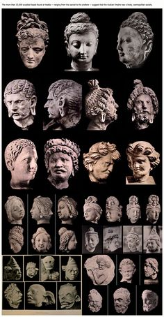 Types heads. Hadda. Kushan Empire.@Tahir Rana since few days i have BEEN looking at all the postings u are doing-My Dear we work Very hard since 1980 to Hepl Preserve Kalash- If you have time join us on our page at FB/we will be very very happy to Learn from your Valuable Contribution to the net about Bactria/old kalash areas/and present day Kalash tribe, have a Look-http://www.facebook.com/groups/174053042611694/