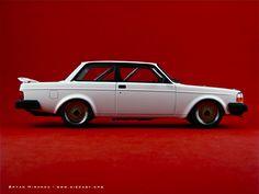 Volvo 240 Turbo Plain Body Version Diecast Model   Legacy Motors