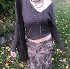 90s Grunge, Grunge Outfits, Hippie Outfits, Cool Outfits, Fashion Outfits, Fasion, Diy Fashion, Cute Woman, Vintage Skirt