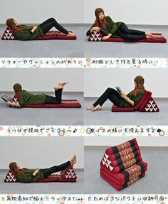 how to make thai triangle pillow
