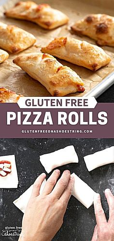 Easy DIY Gluten Free Pizza Rolls , More from my siteThe perfect after school snack or game day appetizer! Pizza rolls are a favorite…Gluten Free, Dairy Free and Gum Free Dinner Accidentally Gluten Free CakesSweet Potato Pizza CrustVegan Calzone Recipe Gf Recipes, Dairy Free Recipes, Cooking Recipes, Healthy Recipes, Simple Snack Recipes, Healthy Snacks, Diy Snacks, Skillet Recipes, Cooking Gadgets