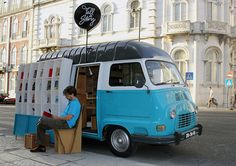 Tell a Story, a traveling Portuguese bookshop devised by advertising agency MSTF Partners.