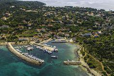 Island Silba (Croatia) from the air.
