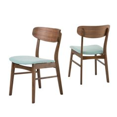 Lucious Dining Chair (Set of 2) - Mint (Green)/Walnut - Christopher Knight Home