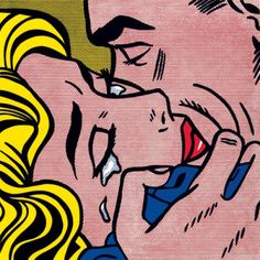 Roy Lichtenstein The Kiss V painting is shipped worldwide,including stretched canvas and framed art.This Roy Lichtenstein The Kiss V painting is available at custom size. Pop Artist, Art, Pop Art Print, Art Prints, Comic Art, Lichtenstein Pop Art, Serigraph, Pop Art Comic, Cool Art