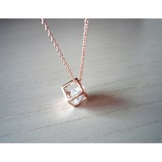 rose gold necklace- rose gold Square simple gold necklace- sweet necklace-perfect gift for you or friends Cute Jewelry, Jewelry Box, Jewelry Accessories, Jewelry Necklaces, Rose Gold Necklaces, Small Necklace, Diamond Necklace Simple, Diamond Necklaces, Pendant Necklace